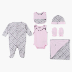 Giggles Printed 6-Piece Clothing Gift Set