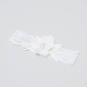 Giggles Floral Applique Hair Band