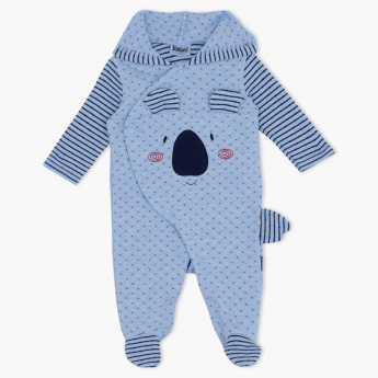 Juniors Quilted Long Sleeves Sleepsuit with Hood