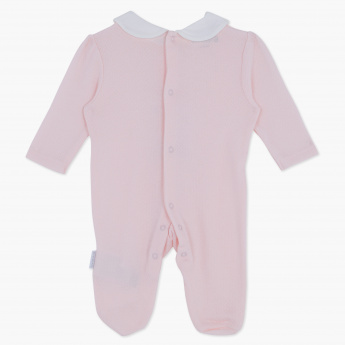 Giggles Embellished Peter Pan Collar Sleepsuit