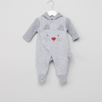 Juniors Hooded Long Sleeves Closed Feet Sleepsuit