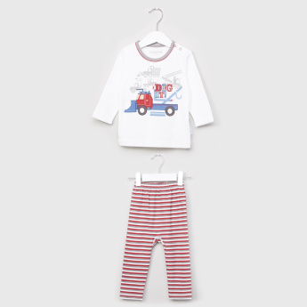 Juniors Applique Detail T-Shirt and Pyjama Set