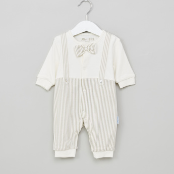 Juniors Printed Sleepsuit with Bow Detail