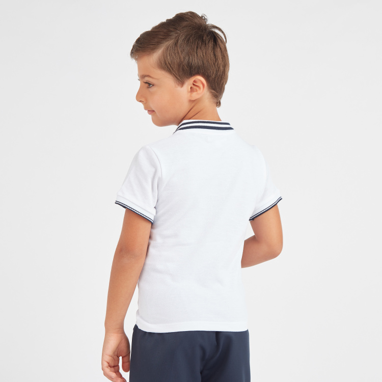 Juniors Solid Polo T-shirt with Short Sleeves