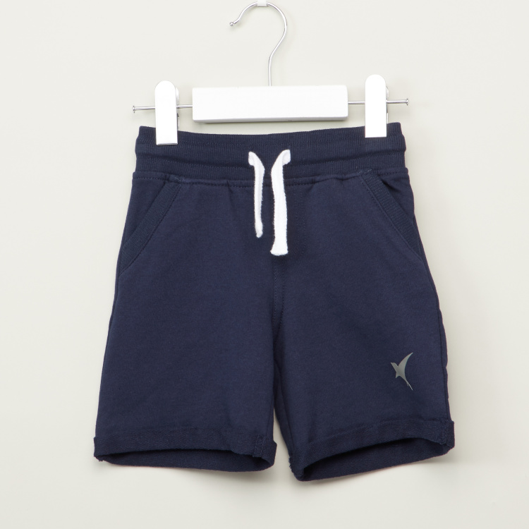 Juniors Solid Shorts with Pocket Detail and Elasticised Waistband