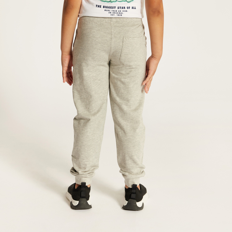 Juniors Solid Jog Pants with Pocket Detail and Drawstring