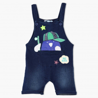 Juniors Printed Denim Dungaree
