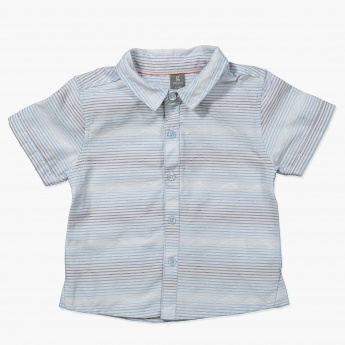 Giggles Striped Short Sleeves Shirt