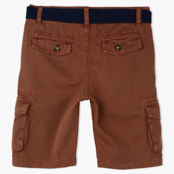 Juniors Cargo Shorts and Belt Set