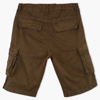 Posh Pocket Detail Shorts with Button Closure