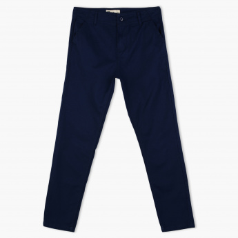 Posh Full Length Pants with Button Closure