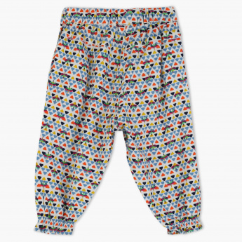 Juniors Printed Pants with Elasticised Waistband