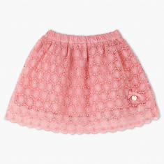 Giggles Lace Embroidered Skirt
