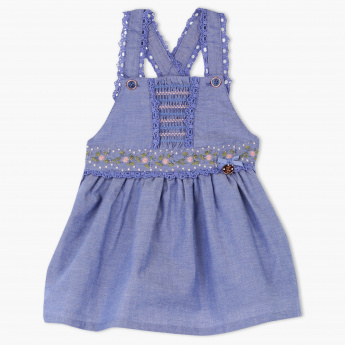 Giggles Embroidered Sleeveless Dress