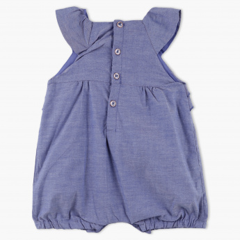Giggles Embroidered Sleeveless Romper