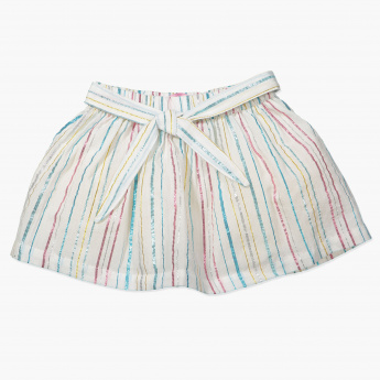 Juniors Striped Skirt with Elasticised Waistband