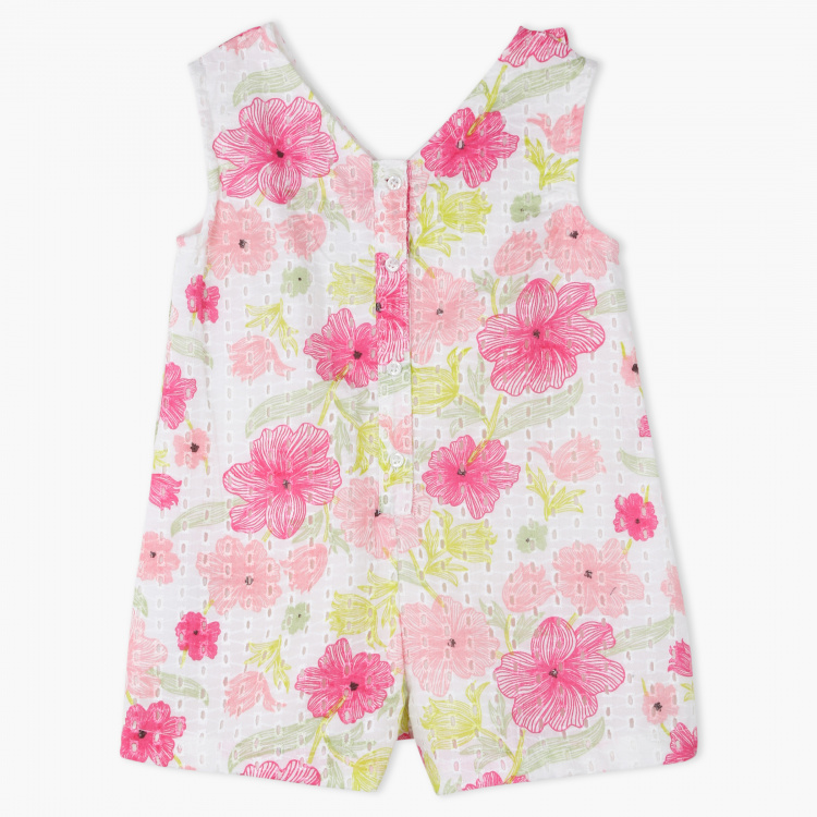 Juniors Floral Print Playsuit