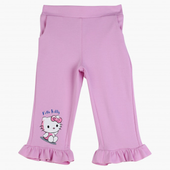 Hello Kitty Printed Frill Detail Pants