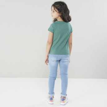 Juniors Full Length Jeans with Pocket Detail and Belt Loops