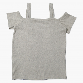 Posh Short Sleeves and Spaghetti Straps T-Shirt