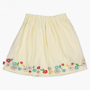 Hello Kitty Embroidered Skirt with Elasticised Waistband