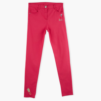 Barbie Full Length Pants with Button Closure