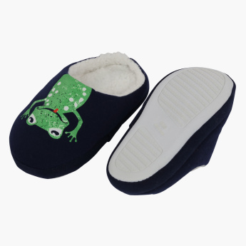 Juniors Printed Shoes with Plush Detail