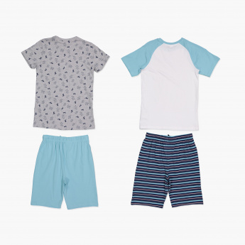 Juniors Printed T-Shirt and Short - Set of 2