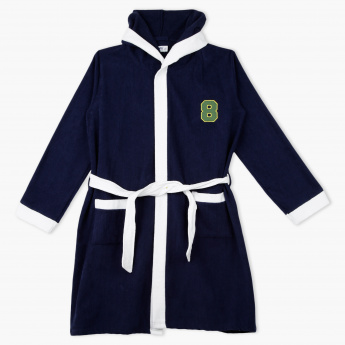 Juniors Printed Long Sleeves Bathrobe