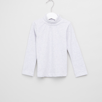 Juniors Turtle Neck Long Sleeves T-Shirt - Set of 2