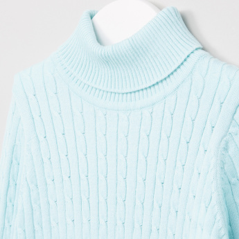 Juniors Turtleneck Long Sleeves Sweater