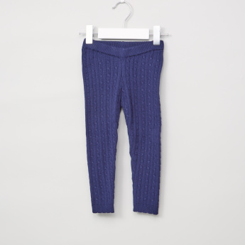 Juniors Textured Full Length Leggings with Elasticised Waistband