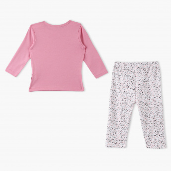 Juniors Full Sleeves Printed T-shirt and Pyjama Set
