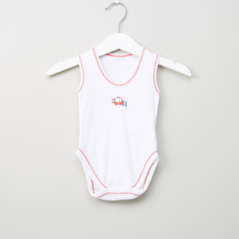 Juniors Sleeveless Cotton Bodysuit – Set of 3