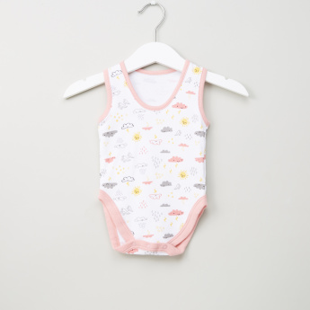 Juniors Sleeveless Printed Bodysuit - Set of 3