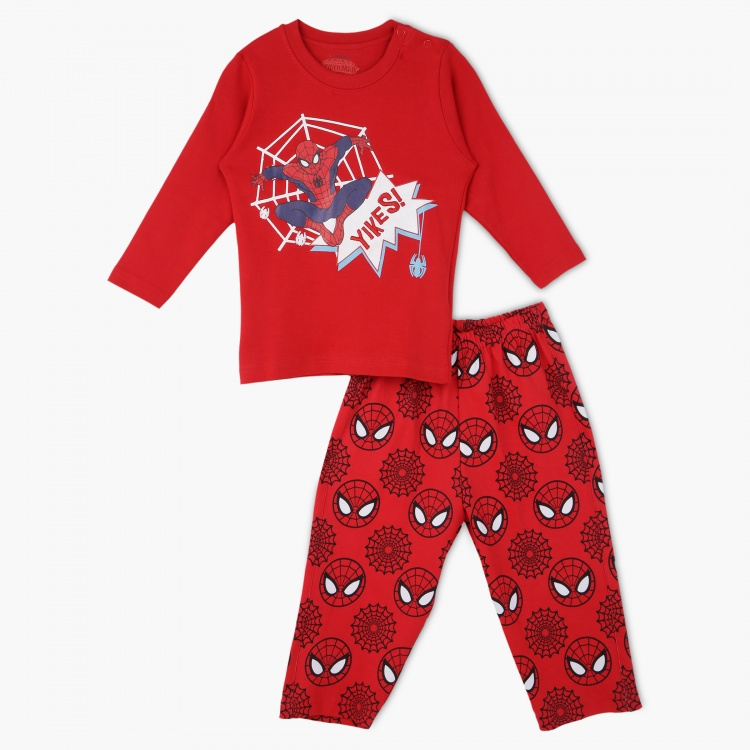 Spider-Man Printed Pyjama Set