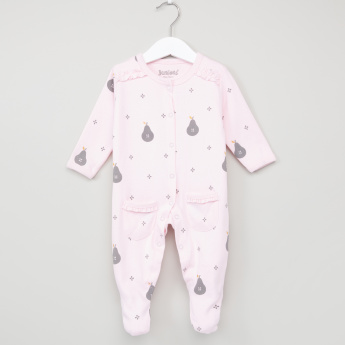 Juniors Printed Long Sleeves Closed Feet Sleepsuit
