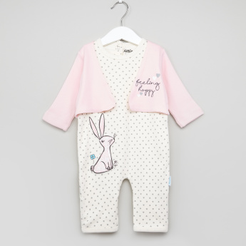 Juniors Printed Open Feet Sleepsuit
