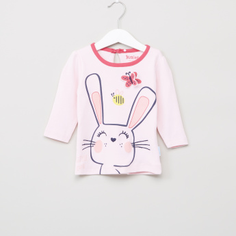 Juniors Printed Top and Pyjama Set
