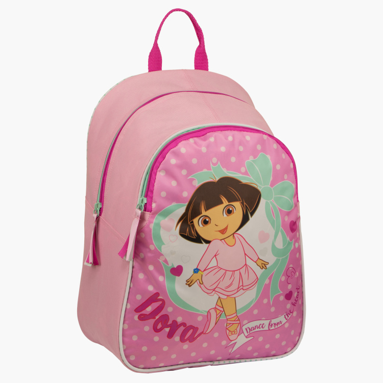 Dora the Explorer Printed Backpack with Zip Closure
