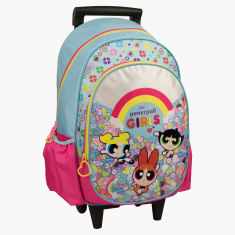 The Powerpuff Girls Printed Trolley Backpack with Zip Closure