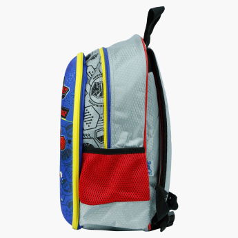 Ranger Printed Backpack with Zip Closure and Adjustable Straps - 16 inches