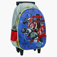 Power Rangers Beast Morphers Printed Trolley Bag - 16 inches