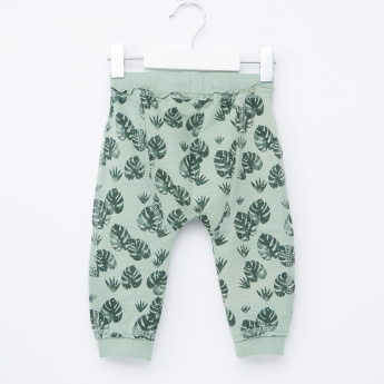 Giggles Printed Jog Pants with Elasticised Waistband and Drawstring