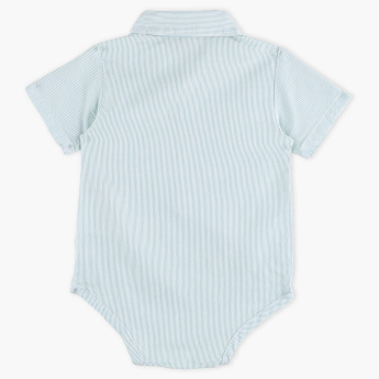 Giggles Striped Short Sleeves Bodysuit