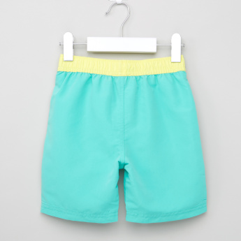 Juniors Printed Swim Shorts with Elasticised Waistband and Drawstring