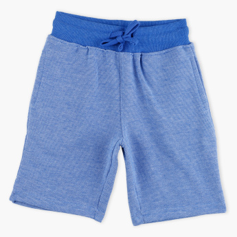 Juniors Textured Shorts with Elasticised Waistband and Drawstring