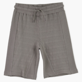 Juniors Knitted Shorts with Drawstring