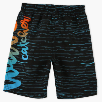 Juniors Printed Shorts with Elasticised Waistband and Drawstring