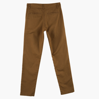 Posh Clothing Full Length Pants with Button Closure